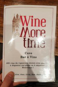 carte Wine More Time